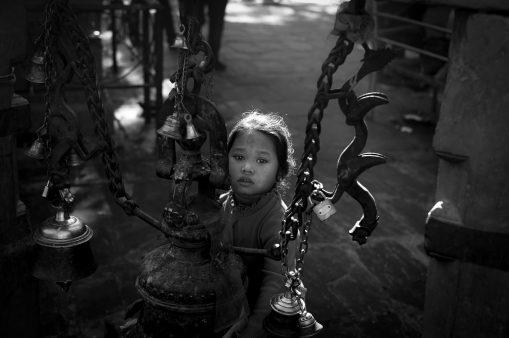 2) Hindu girl in Kathmandu