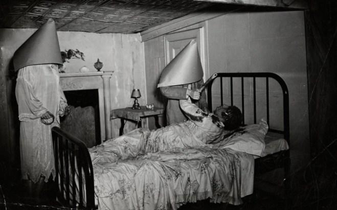 """Weegee. Untitled [""""Ruth Snyder Murder"""" wax display, Eden Musée, Coney Island, New York] ca. 1941 ©Weegee/Internation l Center of Photography"""