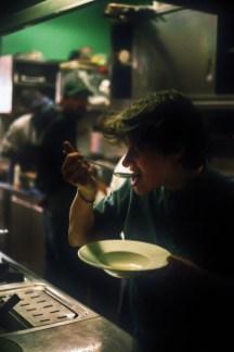 © Denny Mollica. Staff meal