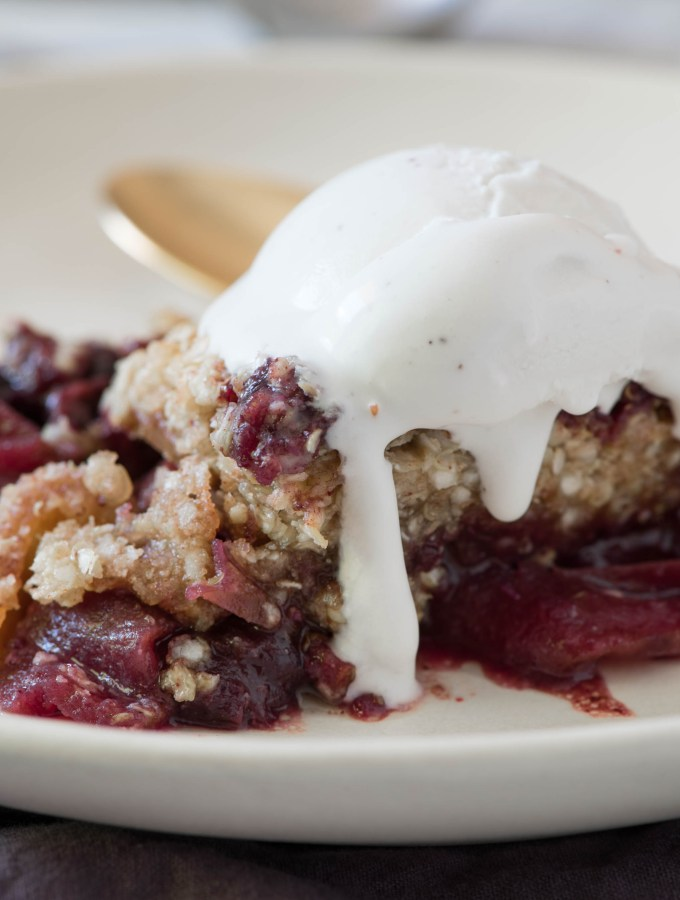 Skillet Apple Cherry Maple Crumble