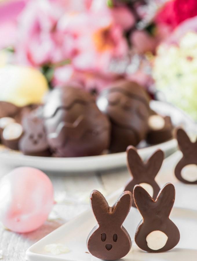 Easy to Make Mini Chocolate Easter Bunnies