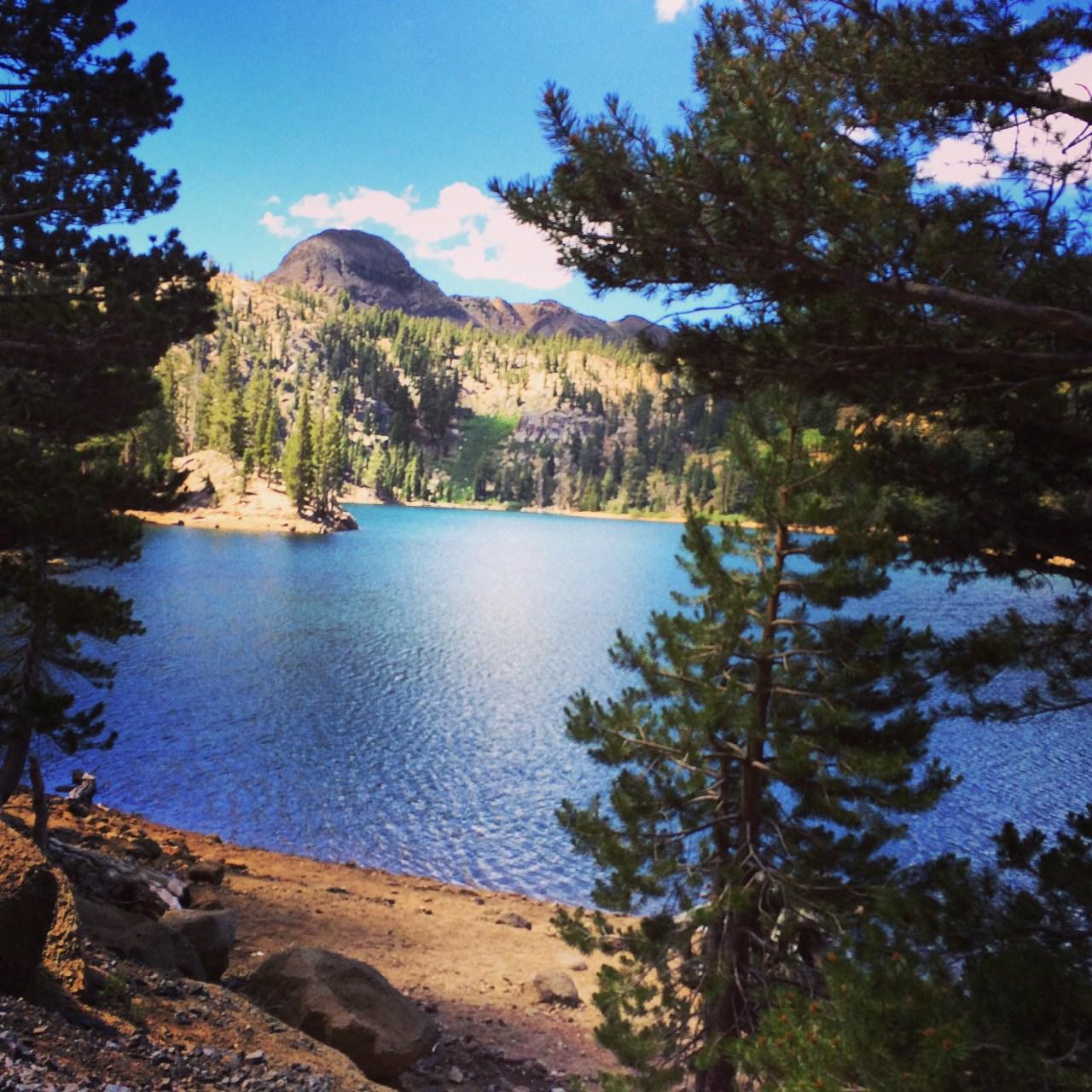 The lake on Ebbetts Pass climb. Looked very inviting.