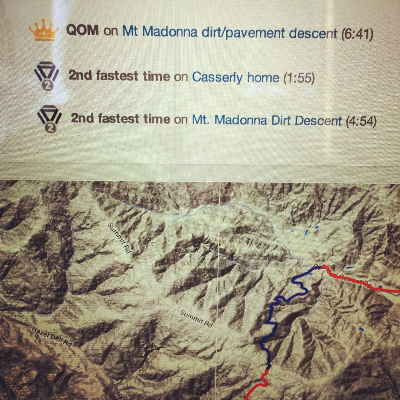I now have QOM on both sides of Madonna descents. Yes.
