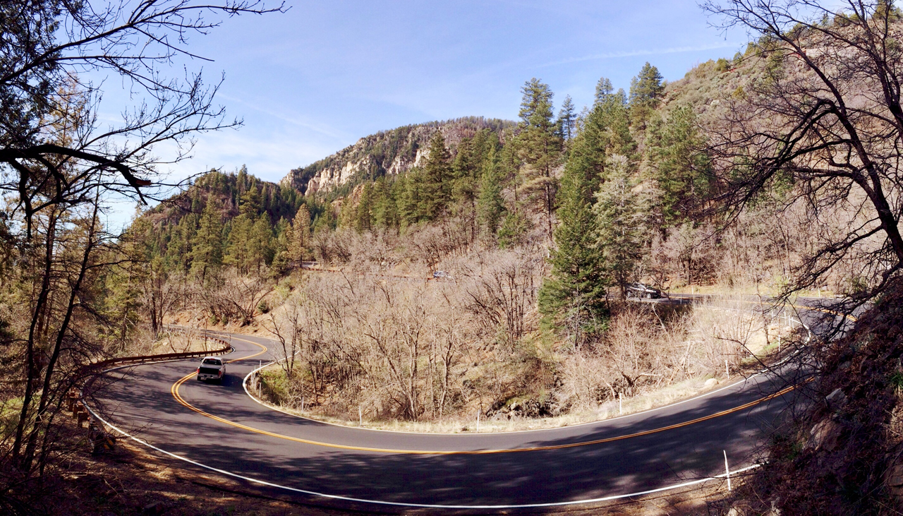 Switchbacks below Oak Creek Vista Point, near Flagstaff, AZ