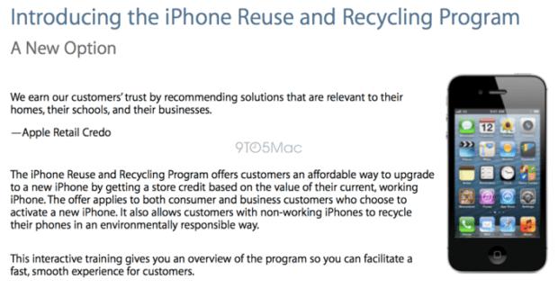 reciclaje iphone