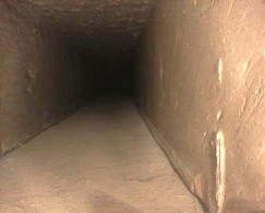 Interior pirámide de Keops