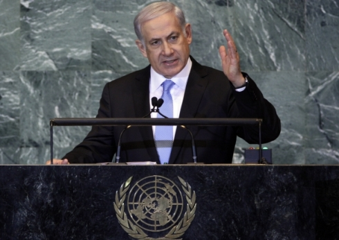 Benjamín Netanyahu ante la Asamblea General de la ONU