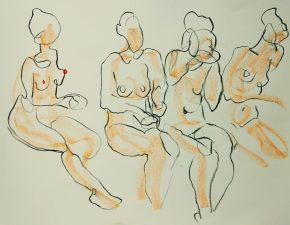 Noel, Berlin, life-drawing, sketch