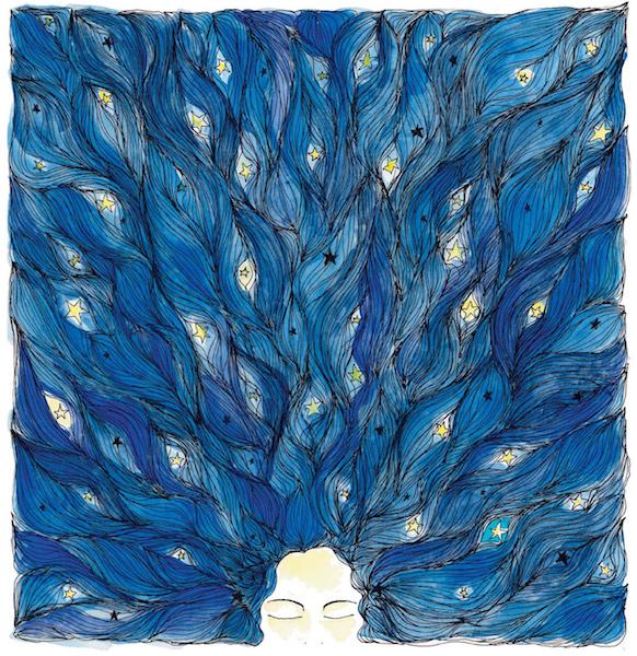 Noel Gazzano (2014) Un Anno da Sirene - A Mermaid Year (cover). Ink and watercolor on paper.
