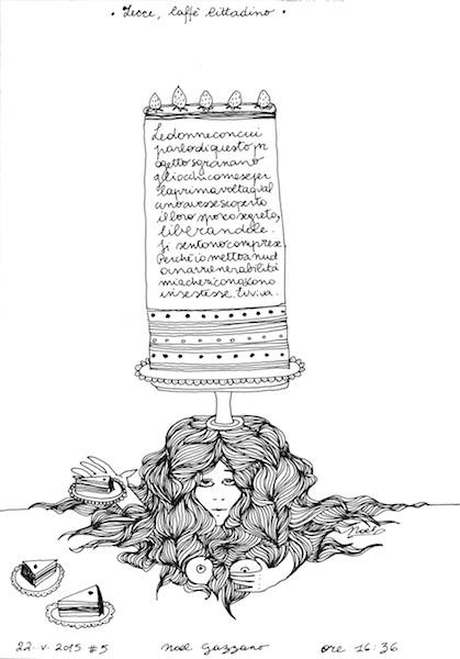 Noel Gazzano (2015) Lo Sporco Segreto (The Dirty Secret). Ink on paper.