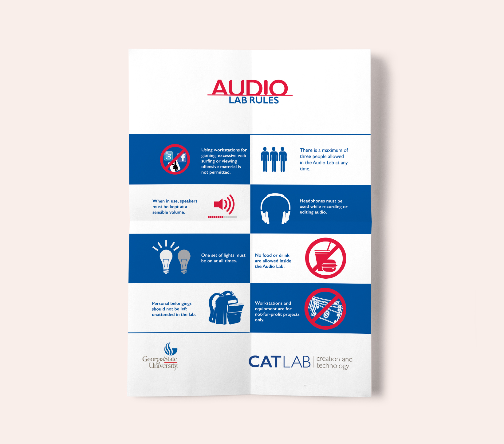 CATLAB Audio Rules Poster