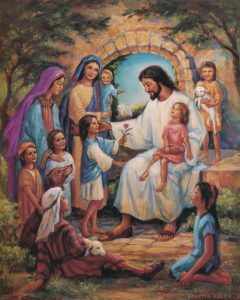 Image result for children and women with Jesus