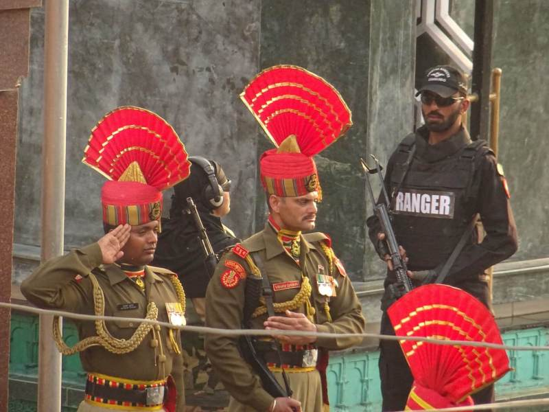 Indian Soldiers at Wagah Border