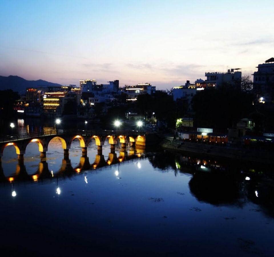 Udaipur Bridge at Night