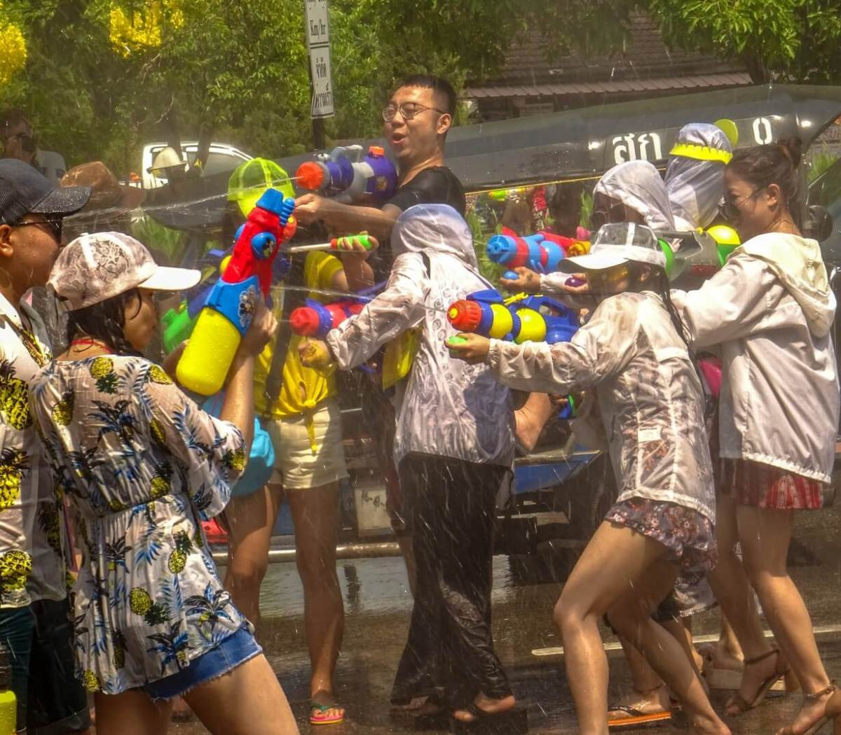 Getting Soaked for Songkran