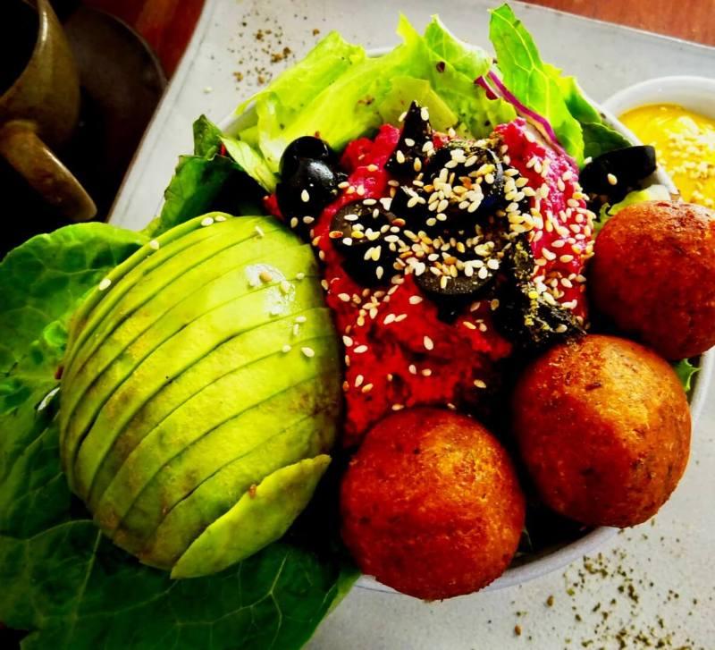 vegan falafel bowl Vibe Siem Reap social enterprise cafes in Siem Reap