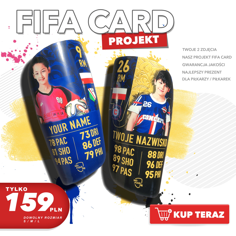 Piłkarskie Ochraniacze Personalizowane FIFA CARD PL - 159 pln-min