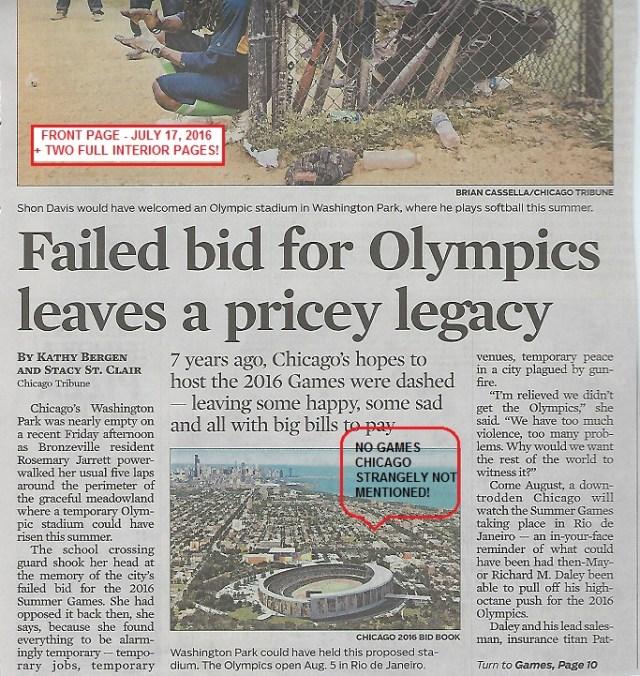 Failed Olympic bid