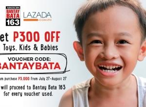 Help a kid by Shopping at Lazada Philippines using BANTAYBATA code