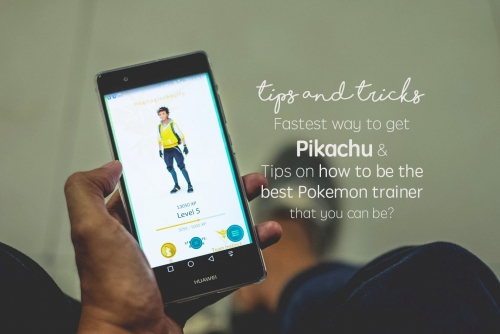 How to easily capture Pikachu and Tips in playing Pokemon Go