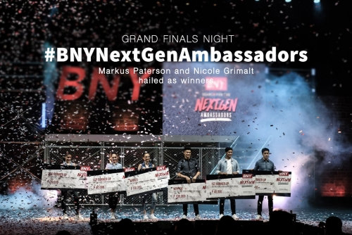 Markus Paterson and Nicole Grimalt hailed as BNY's NextGen Ambassadors