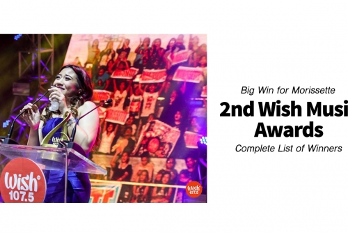 Big Win for Morissette + Complete List of Winners of the 2nd Wish Music Awards