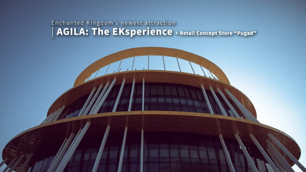 "Enchanted Kingdom's newly opened flying attraction AGILA: The EKsperience + retail concept store named ""Pugad"""