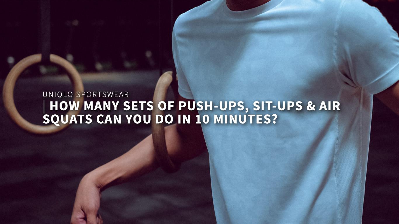 7 sets of Push-ups, sit-ups and air-squats in 10 minutes