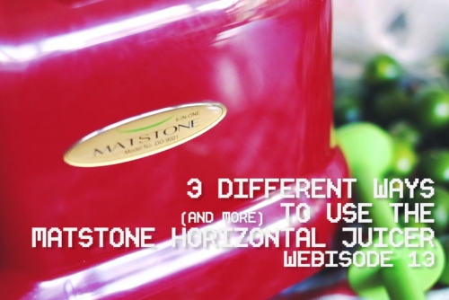 Different Ways of Using the Matstone Horizontal Juicer (Aside from Juicing)