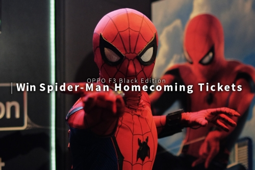 Get a chance to win movie tickets and watch the latest movie Spider-man: Homecoming with OPPO F3 Black Edition