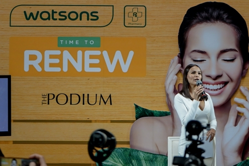 "Recharging health and beauty made easy through the  ""Time to Renew"" campaign by Watsons"