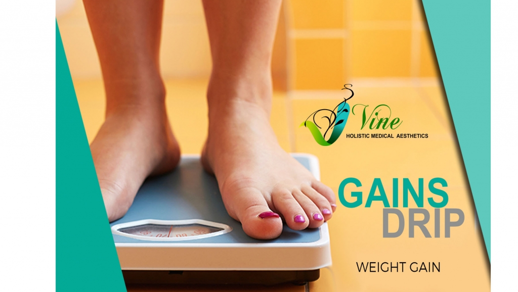 Gain weight faster with Gains Drip