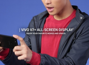 Enjoy your favorite movies and videos with the Vivo V7+ All-screen display