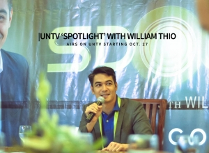 "UNTV ""Spotlight"" with William Thio airs on UNTV starting Oct. 27"