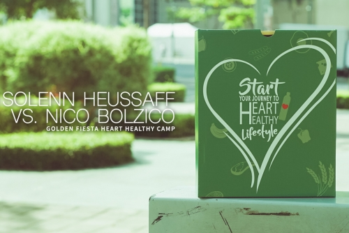 Solenn Heussaff vs. Nico Bolzico at the Golden Fiesta Heart Healthy Camp