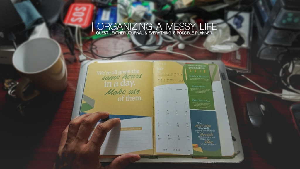 Organizing a messy life with Quest Leather Journal & Everything is Possible Planner by Viviamo
