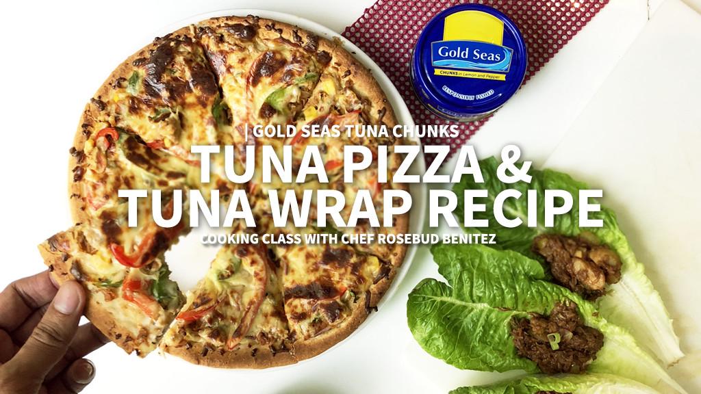 Tuna Pizza & Tuna Wrap Recipe using Gold Seas Tuna Chunks