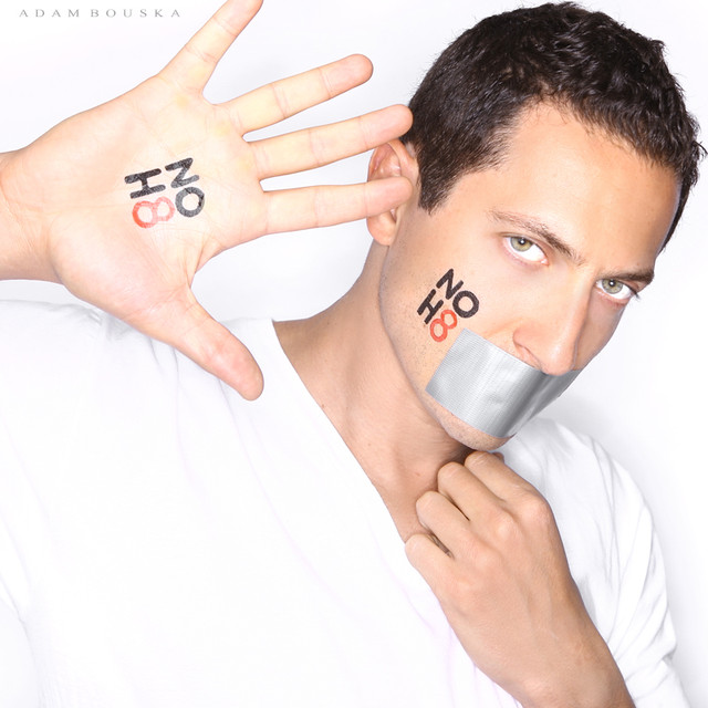 Sasha Roiz's photo for the No H8 Campaign