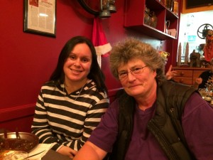 Tracey Whare, rapporteur and secretariat for the indigenous global coordinating group, and Edwina at one of the great restaurants on Castro Street