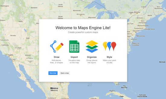 Google Maps Engine Light
