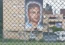 Ponte di Nona: Jorit ripristina il murales di Ciro dopo gli atti vandalici di questa notte
