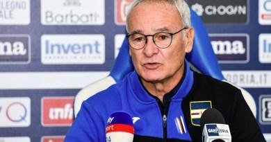 """Lazio-Sampdoria, Ranieri in conferenza stampa: """"La Lazio è stata bellissima. Complimenti a loro"""""""