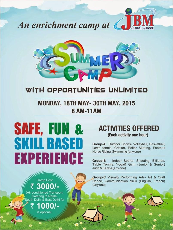 Activities For Summer Camp In School India | Mysummerjpg.com
