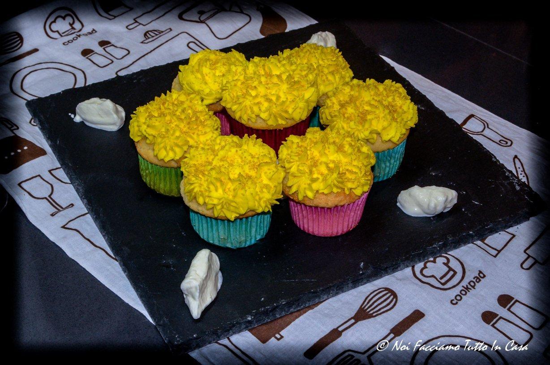 Mimosa Cupcake (muffin al profumo di limone)