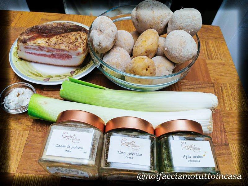Minestra di porri e patate