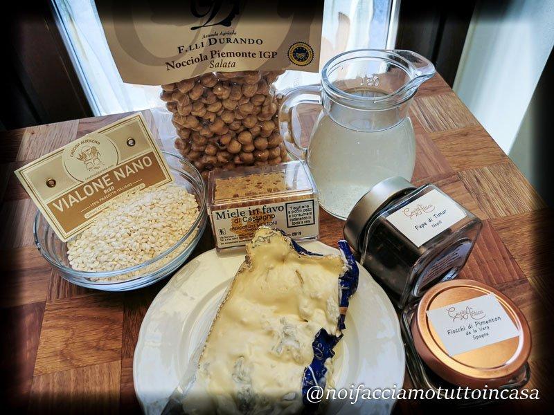Risotto al gorgonzola con nocciole e miele