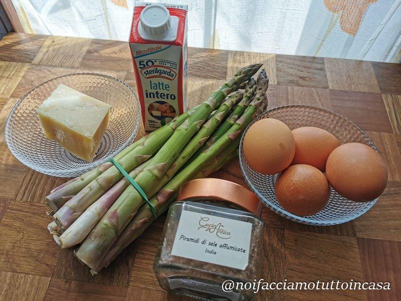 Asparagi e Uova con crema di parmigiano