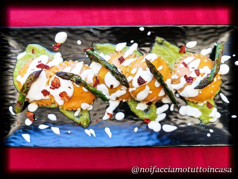 ravioli senza glutine con asparagi e ricotta