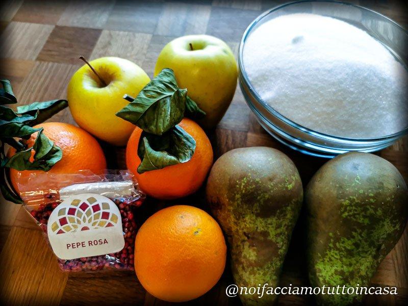 Marmellata di Mela Pera e Arancia al Pepe Rosa