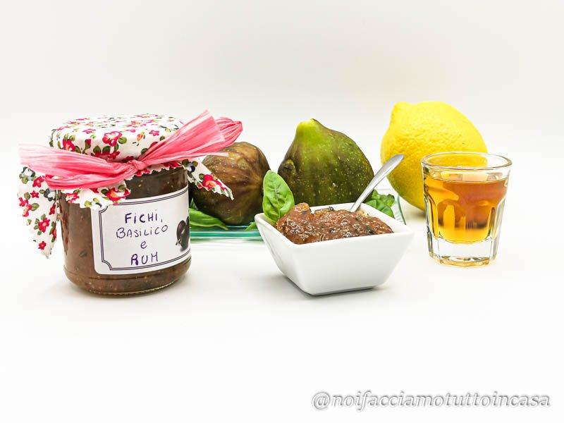 Marmellata Fichi Basilico e Rum